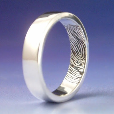 Fingerprint Wedding Band Another genius way to incorporate your fingerprint