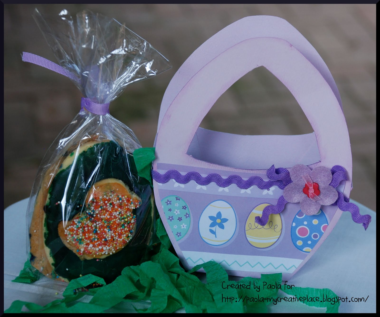 My creative place easter basket with a template and a tutorial easter gift from the kids to the grandparents might be a good idea so i set about designing a basket to present the cookies in negle Image collections