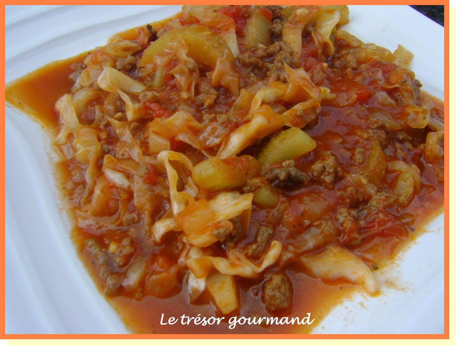 Le tr sor gourmand casserole de boeuf et chou - Se raser avec un coupe chou ...