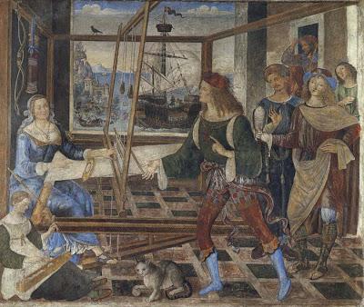 Penélope y sus petendientes, Pinturicchio