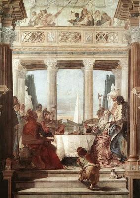 El banquete de Cleopatra, Tiepolo