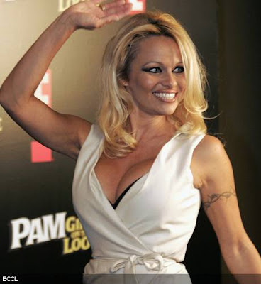 Pamela Anderson walk the ramp