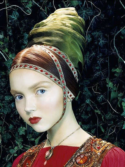 The reigning queen of the Living Doll shoot; model Lily Cole.