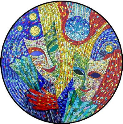 Mosaico 'Masks' de Yulia Hanansen