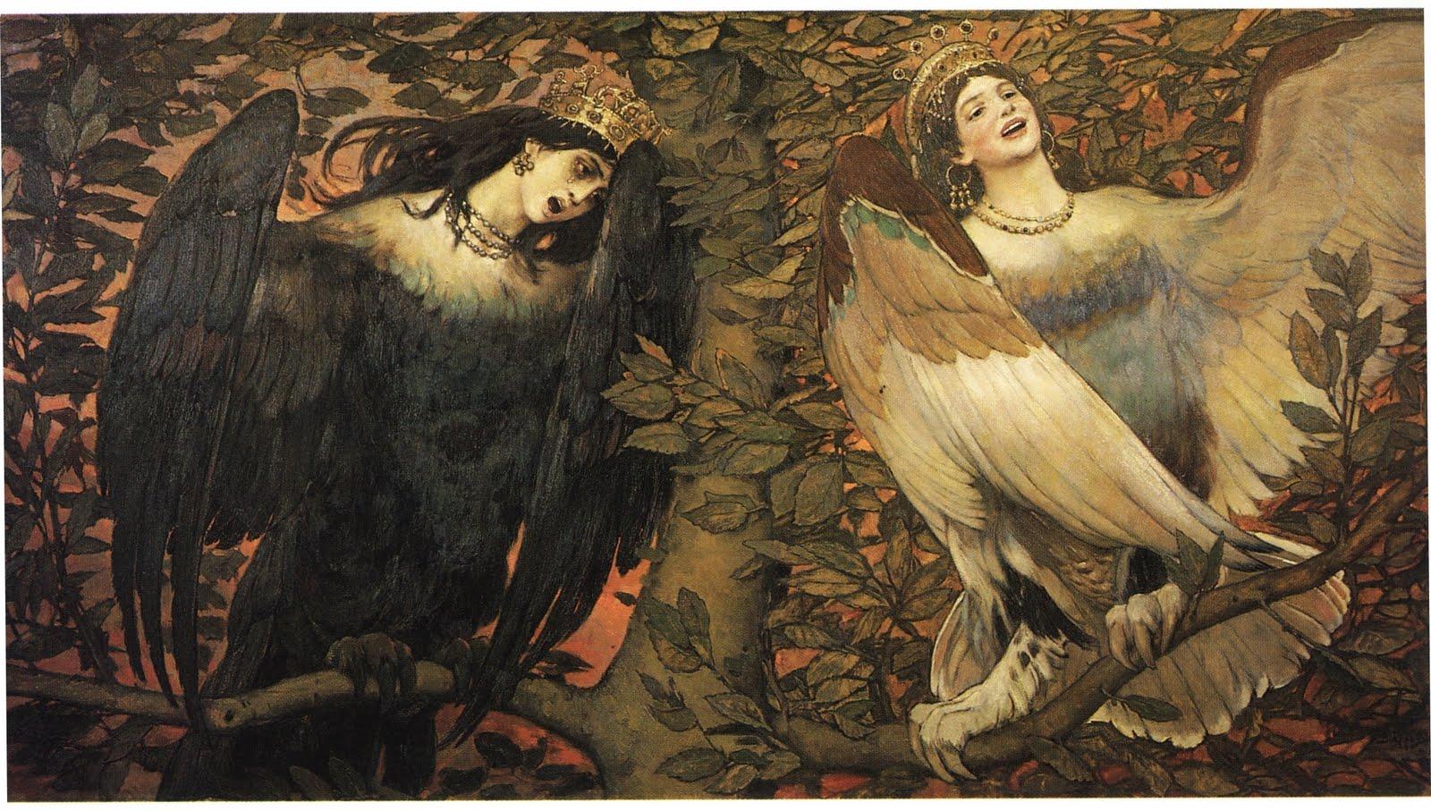 Сирин и алконост птицы радости и