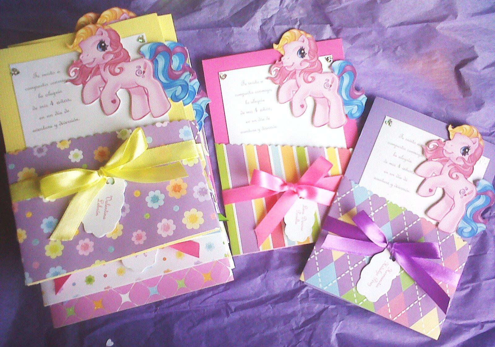 Tarjetas de cumpleaños de My Little Pony - Imagui