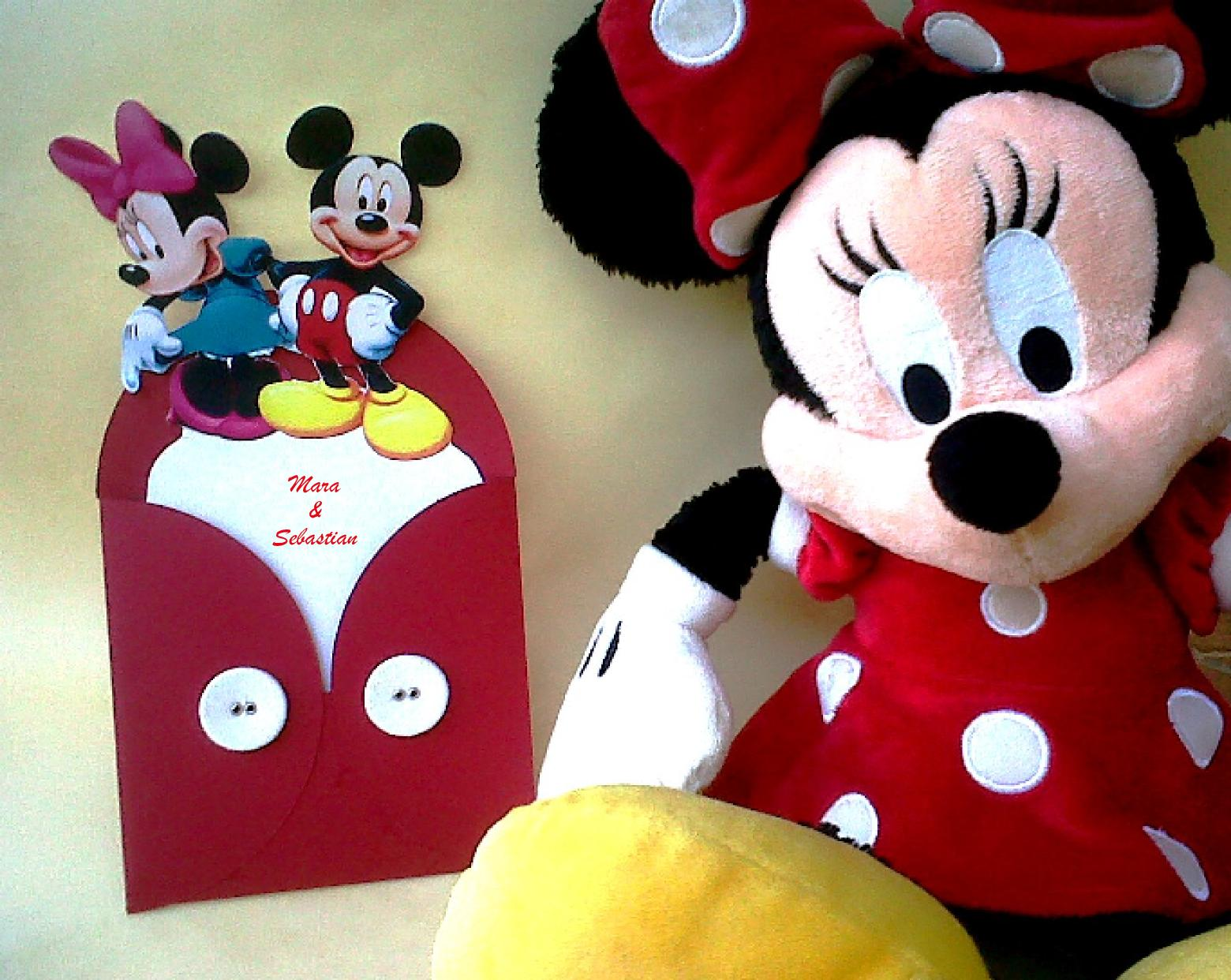 INVITACIONES DE MICKEY Y MINNIE