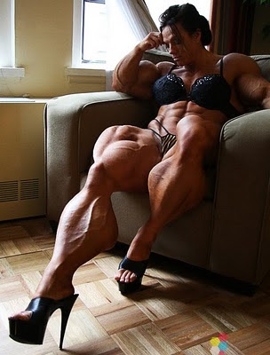 Female Muscle Morphs Pro Female Bodybuilder Sheila Bleck