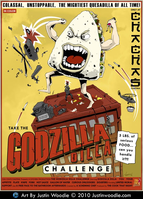 Cha Cha's Cantina Godzilla Dilla Poster By Justin Woodie - Justinwoodie.com