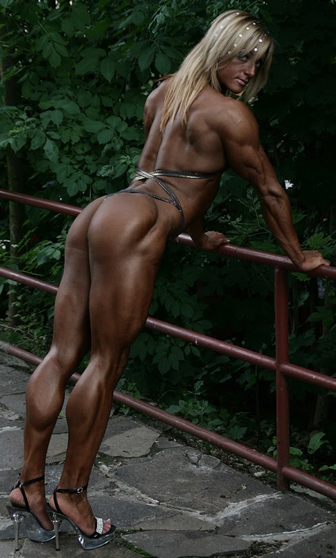 Katka Kyptova Female Bodybuilder Muscle Legs
