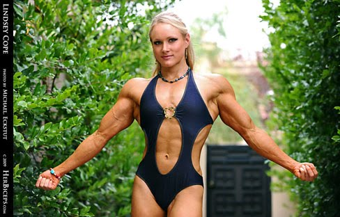 Lindsey Cope Female Muscle Bodybuilding Biceps