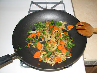pan of sauteed veggies