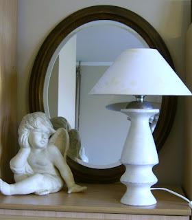 lampa stołowa(2)shabby schic abażur