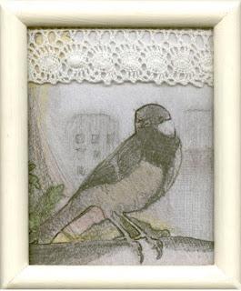 ptak na oknie