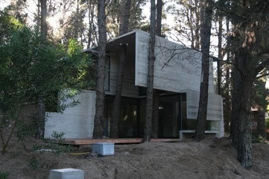 Hablemos un poco de todo casas de hormig n en el bosque for Casas alargadas