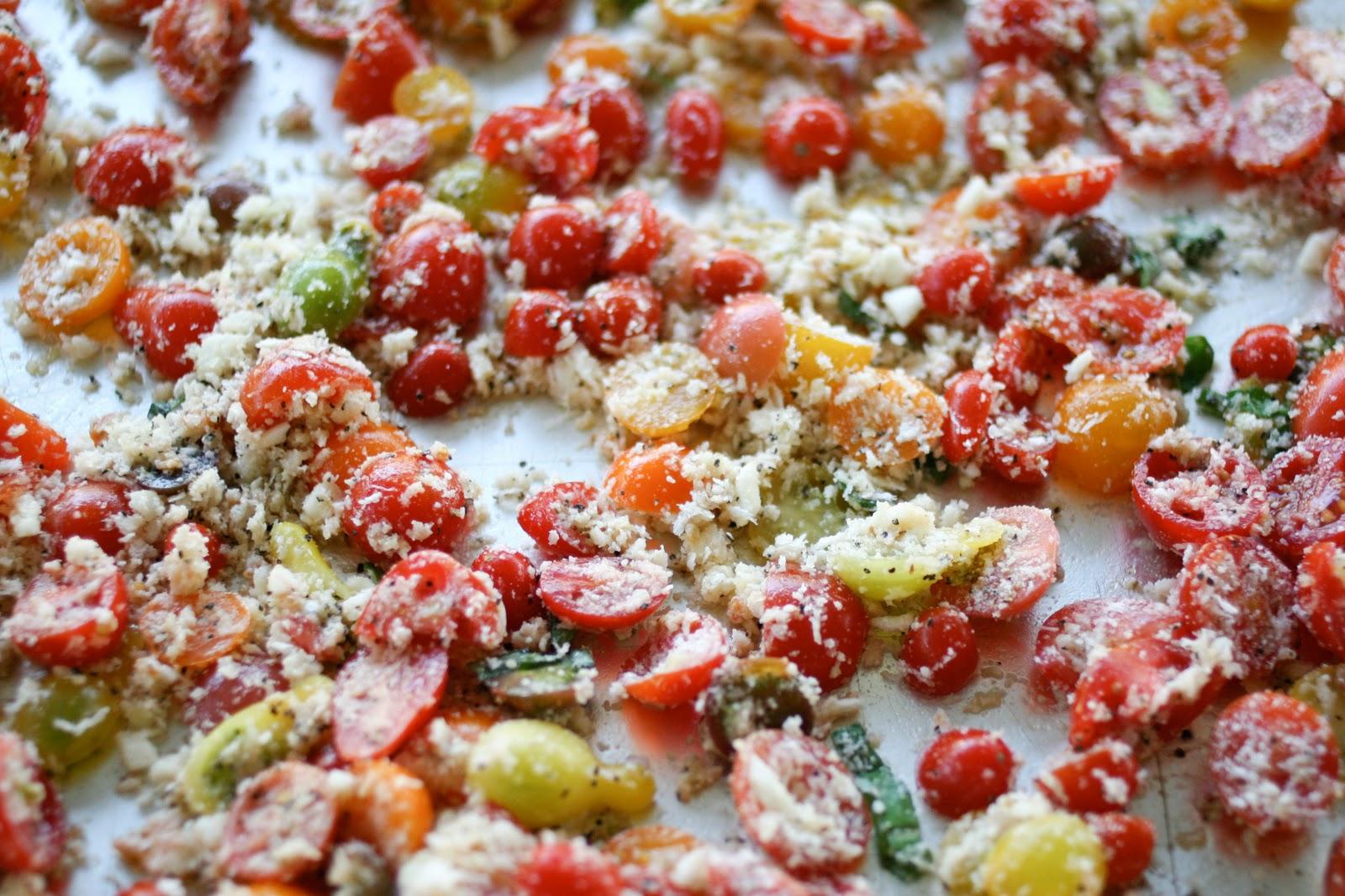 Une-deux senses: Pasta with Baked Tomato Sauce