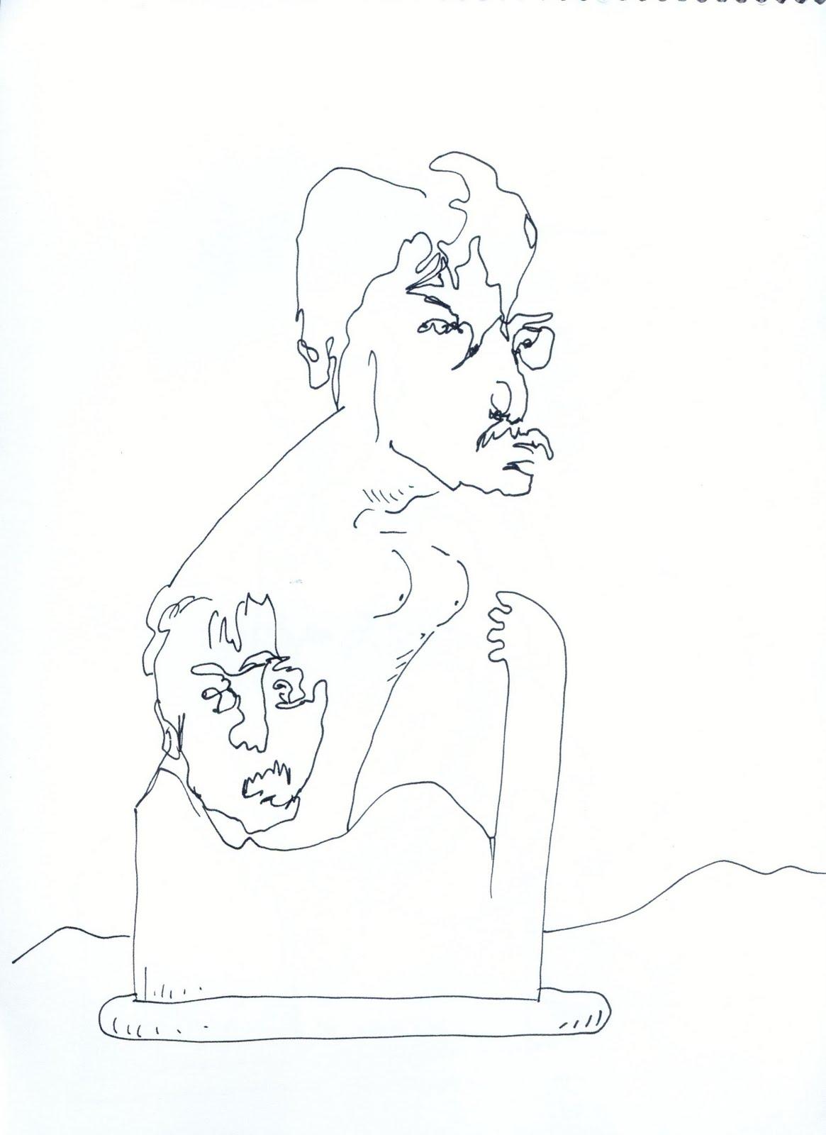 Line Drawing John Lennon : Kin bentley in line beatles bowie ice cream
