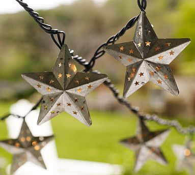 Galvanized Metal String Party Lights : Live Creating Yourself.: Fireflies & Twinkle Lights