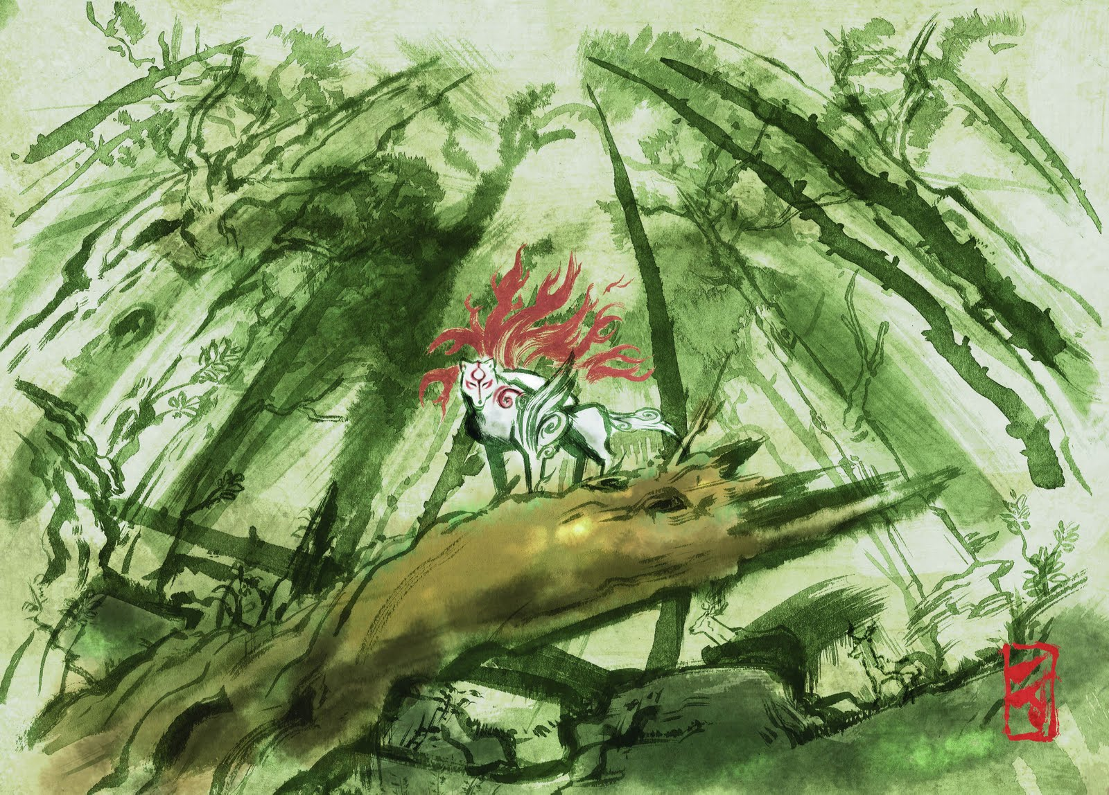 Okami HD & Widescreen Wallpaper 0.170548235891038