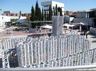 milk carton castle in guinness book