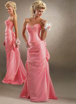 Pink wedding dress designed
