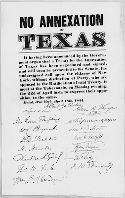 annexation of texas a british conspiracy Ignored the issue of the annexation of texas america was invaded by the british d ap us history question.
