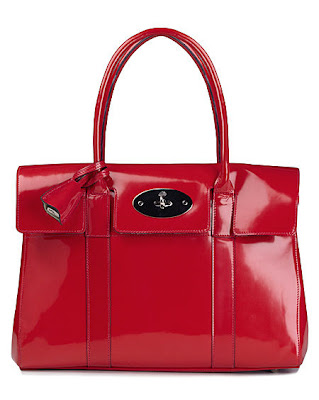 This is the gorgeous (to me) Spazzalato Crimson Bayswater by Mulberry.