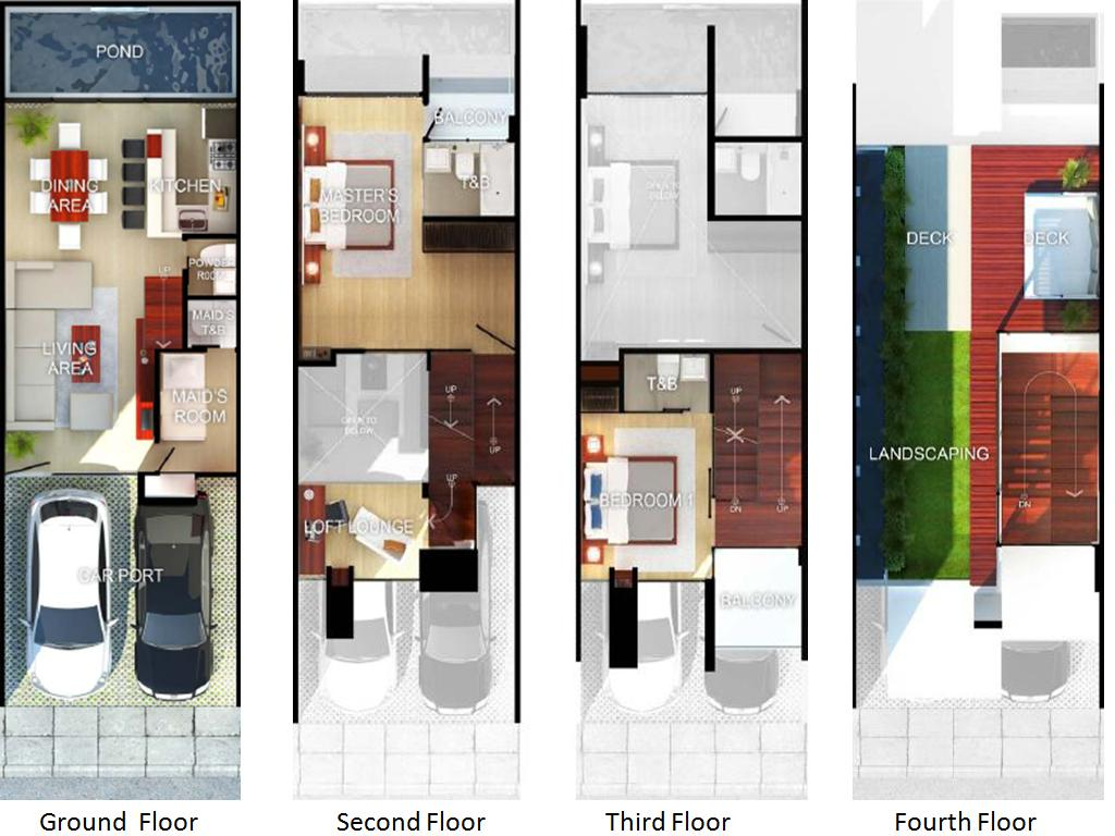 25sqm the sofia townhouses reinvented for Townhome layouts