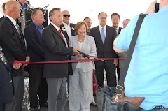 Magistrate Judges Frietze and Garcia Cut the Ceremonial Ribbon