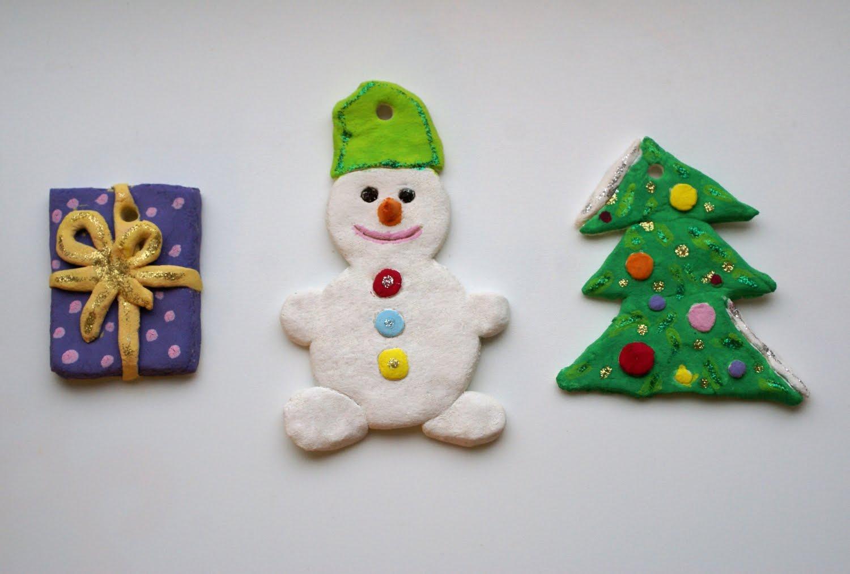 Новогодние игрушки из теста своими руками фото
