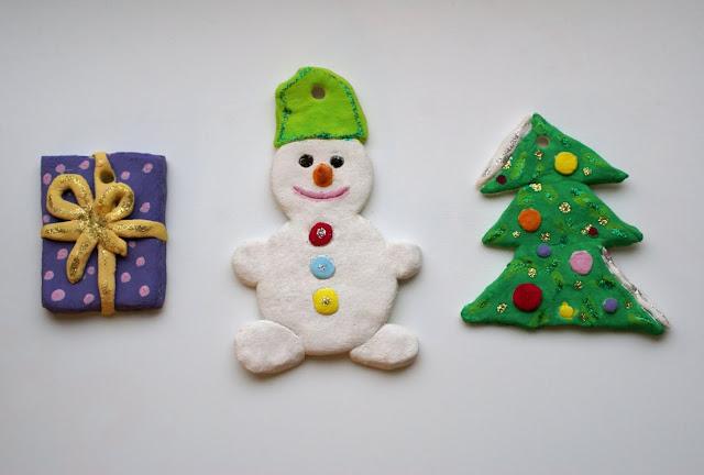 Ёлочные игрушки из солёного теста своими руками