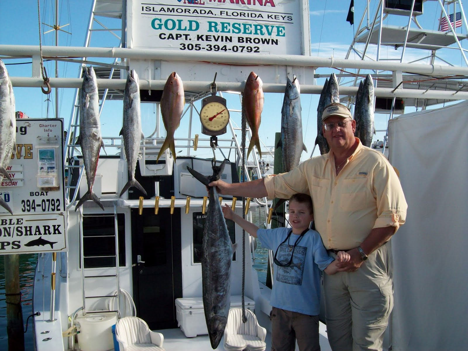 family with king mackerel
