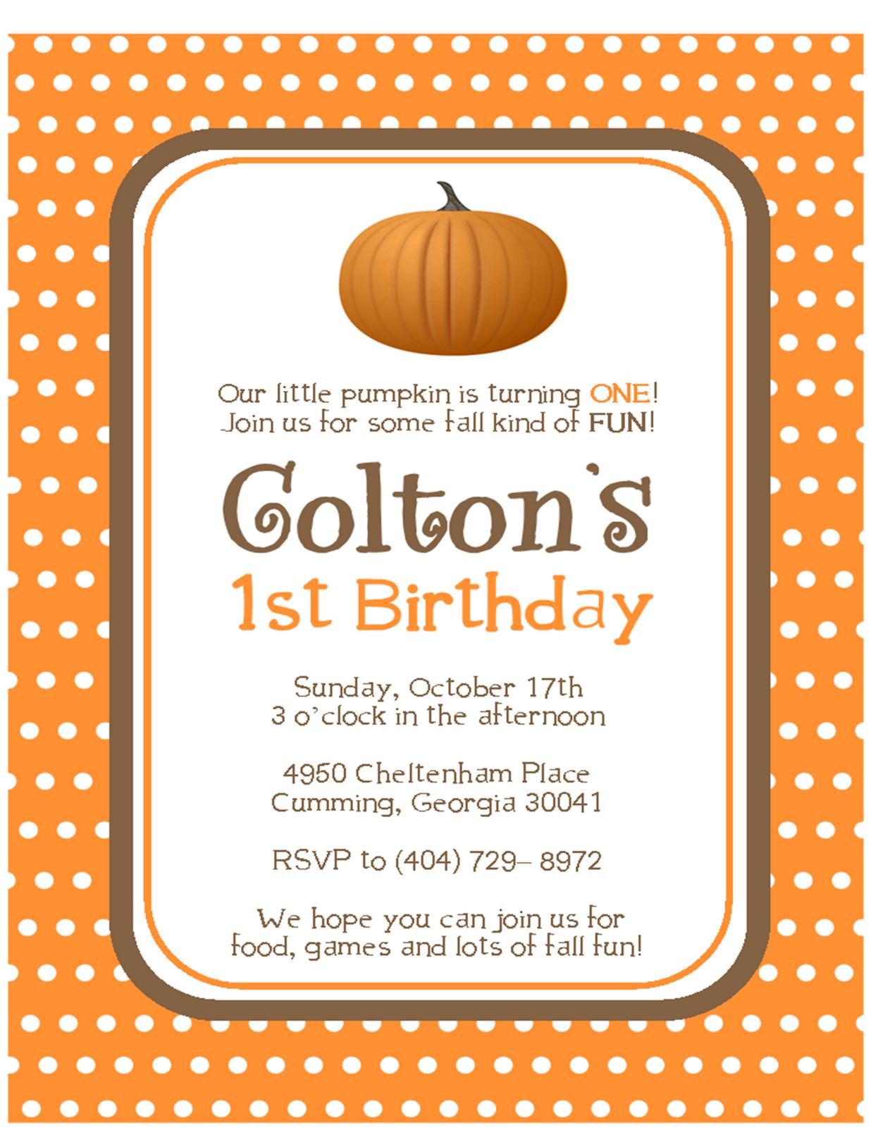 Fall Fun: Pumpkin Invitations - Sweet Peach Paperie