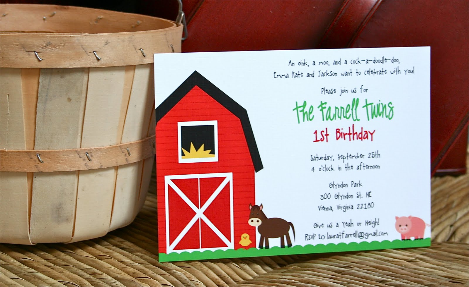 Fresh on the Farm: Barnyard Party Collection - Sweet Peach Paperie