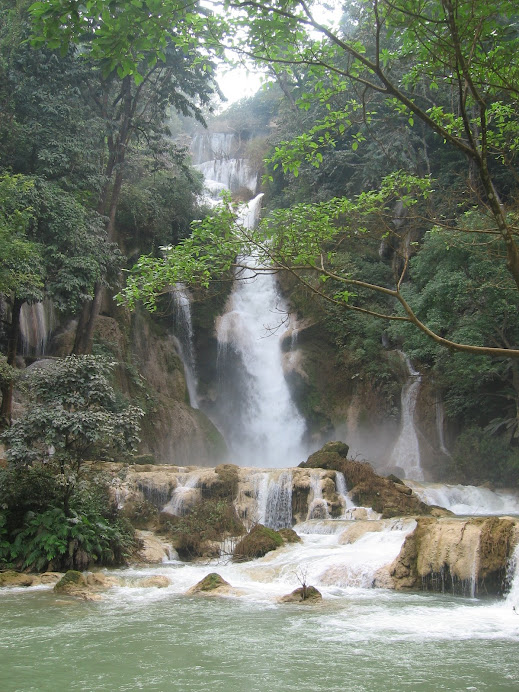 The water fall in Luang Prabang