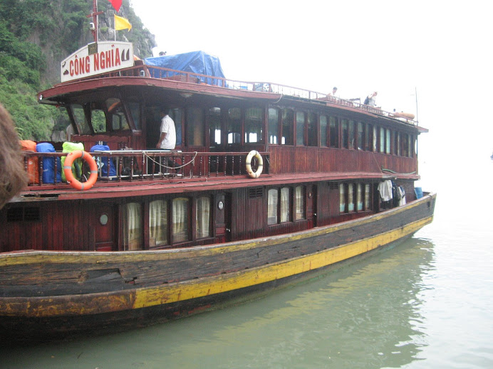 The boat that we stayed the night on in Halong Bay