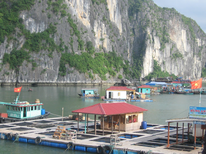 Floating Villages at Halong