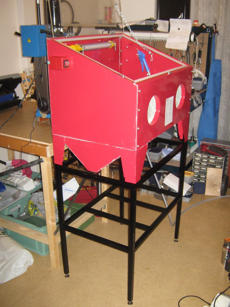 Home Shop Machinist: Stand for the blasting cabinet