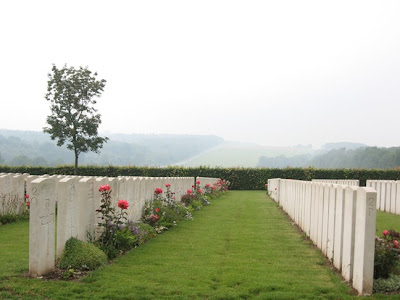 adelaide war cemetery misty fields of france villers bretonnuex 2006