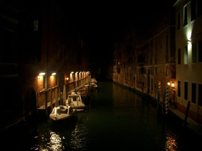 venice photos canals at night well lit italy