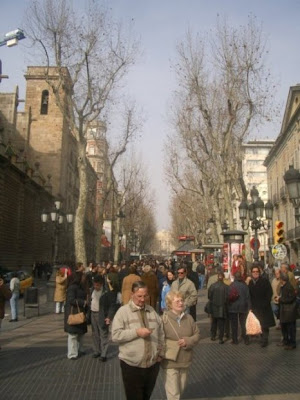 spain pictures las ramblas in barcelona streetscape photo