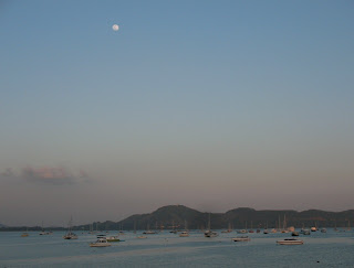Moon over Chalong Bay