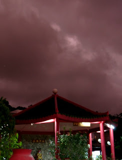 Stormy Skies over the temple in Karon Plaza, 23rd March 2007