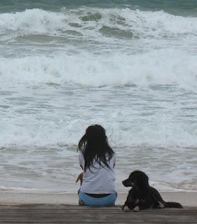 Staring at the sea...