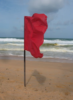 Red flag at Karon Beach, 9th August