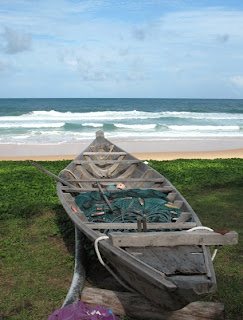 Longtail boat and nets, Karon Beach