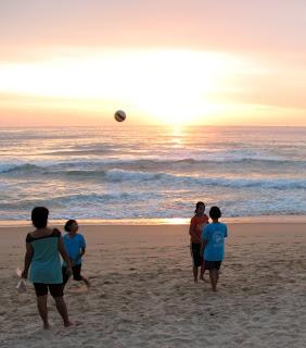 Local kids play on Karon beach, 21st September