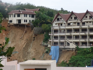 Landslide in the hills near Patong Beach, Photo from Phuket Gazette
