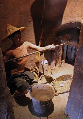 Early mining diorama