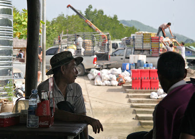 Waiting for the ferry at Bang Rong Pier